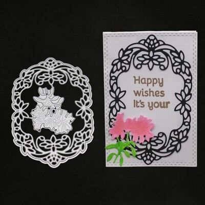 Flower Cutting Dies Frame Stencil DIY Scrapbooking Embossing Card Paper Craft