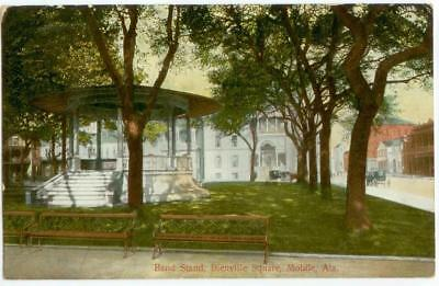 c1910 Mobile Alabama Bienville Square Band Stand