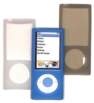 Silicone Skin Gel Case for iPod nano Choose 5th or 4th Generation flexible cover