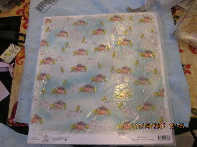 """MAGNOLIA INK Little Easter Turquoise Easter Blessing cardstock 11.75""""x12.5"""" NIP"""