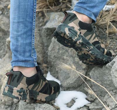Mens Camo Steel Toe Cap Safety Work Shoes Mesh Sneakers Hiking Sports zhou8