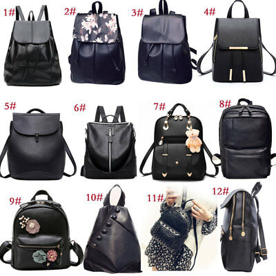 Fashion Women Backpack Travel Shoulder Bag Girls Ladies PU Leather Rucksack New