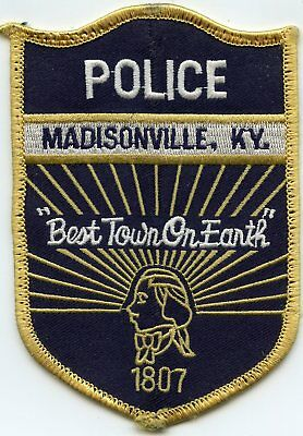 MADISONVILLE KENTUCKY KY Best Town On Earth POLICE PATCH
