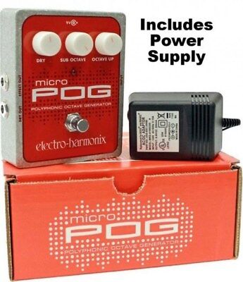 NEW Electro Harmonix Micro POG Polyphonic Octave Generator Pedal w/ Power Supply