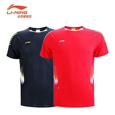 2018 Summer Game Li-Ning badminton Tops sportswear tennis Clothing men Tee shirt