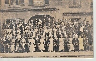 RP 1918 JERSEY Belle Vue - large group in front of building, photo A. Laurens