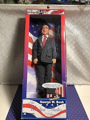"Talking President George W. Bush 12"" Collectible Action Heroes New"
