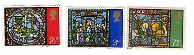 GB Stamps SG894-896 1971 Christmas. Multicoloured. Used complete set