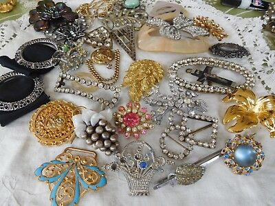 Lovely Huge Assorted Deco Vintage 1950s Jewellery for spares repair etc