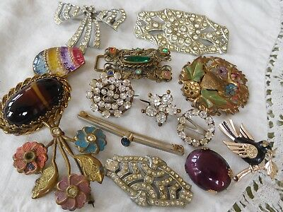Lovely mixed Collection of Deco 1950s Costume Jewellery  some good some spares