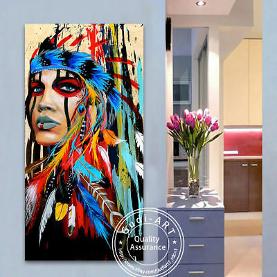 Large Canvas Abstract Cow Hand-Painted Modern Oil Painting Home Decor Art
