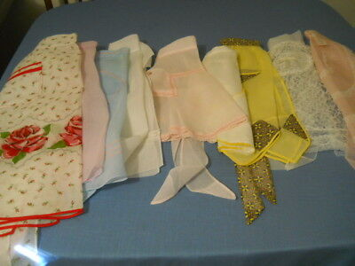 Lot 9 Vintage Hostess Style Aprons 7 Organdy 1 Nylon All Sizes 2 Unused