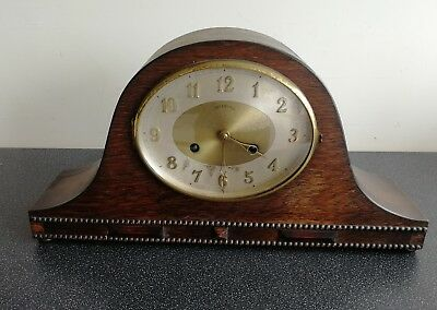 Large Old Wooden Cased Ingersoll Mantel Clock For Spares And Repair