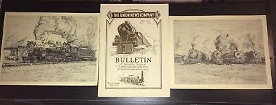 Train Lot 1-The Union News Company Railroad Bulletin 1922 - Prints from the 70's