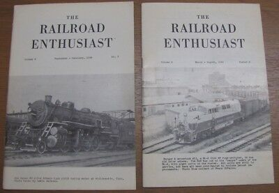 The Railroad Enthusiast Magazine - 2 editions: Sept - Feb 1966, March - Aug 1966