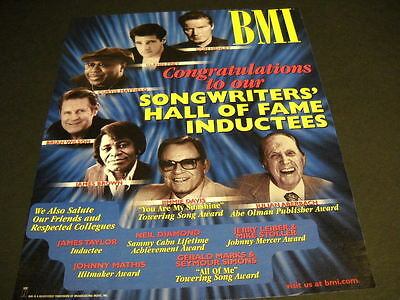 EAGLES Henley & Frey SONGWRITERS HALL OF FAME inductees PROMO DISPLAY AD mint