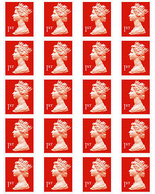 50 1st Class Stamps Unfranked Off Paper FACE VALUE £33.50 SEE FEEDBACK!