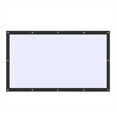 """120"""" 16:9 collapsible portable projector cloth screen with hanging hole."""