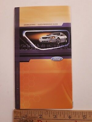 """2004 MUSTANG - Original """"Quick Reference"""" Guide  - Excellent Condition"""
