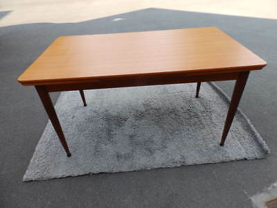 Table vintage avec allonges design scandinave teck teak