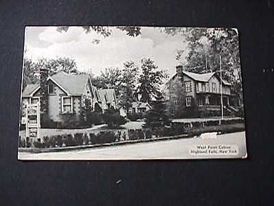 1953 West Point Cabins, Highland Falls, New York Postcard