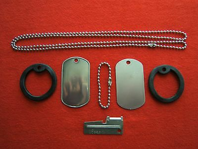 Vietnam War Era NOS US Military 1964 Dog Tags Original G.I machine P-38 included