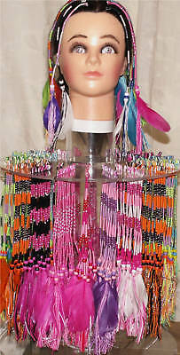 10 clip in hair braids with beads and feathers hair wraps, braiding