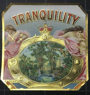 TRANQUILITY an outer Tampa cigar box label