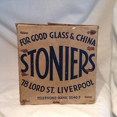 Vintage Box From Stoniers 78 Lord St Liverpool , Suppliers To White Star Line