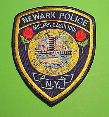 Newark  New York  Ny  Millers Basin 1819  Red Roses  Police Patch  Free Shipping