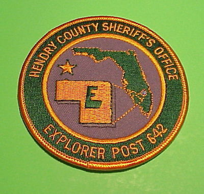 Hendry County  Florida  Fl   ( Explorer Post 642 )  Sheriff / Police Patch