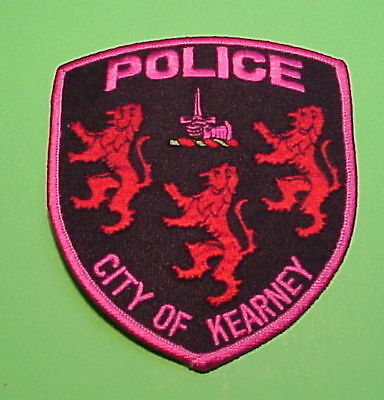 Kearney  Missouri  ( Pink Breast Cancer Awareness )  Police Patch  Free Shipping