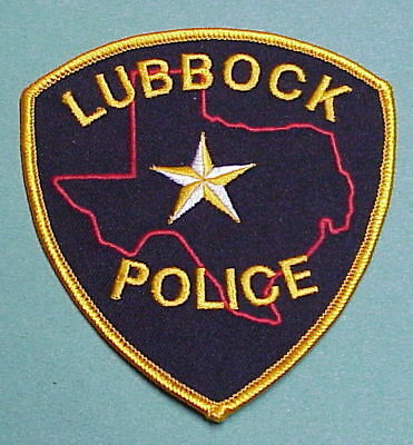 Lubbock  Texas  Tx   Police Patch   Free Shipping!!!
