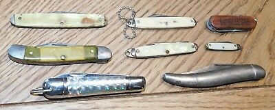 Vintage Lot of 8 Folding Knives, Parts or to Restore. No Reserve.