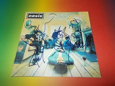 Oasis Band Liam + Noel signed signiert  Autogramm auf CD COVER IN PERSON Selten