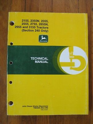 2755 John Deere Technical Service Shop Repair Manual 8999 Picclick. John Deere 2155 2355 2355n 2555 2755 2855n 2955 3155 Technical Manual. John Deere. 2355 John Deere Electrical Diagram At Scoala.co