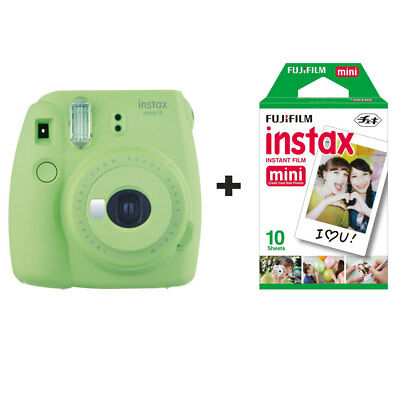 Fuji Fujifilm Instax Mini 9 Instant Camera with 10 Shots - Lime Green