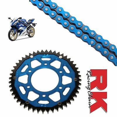 Yamaha YZF-R125 Chain and Sprocket Kit Blue RK Racing Blue ZF Rear Sprocket