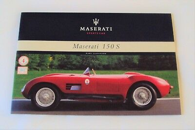 Maserati 150 S Brochure / Booklet ~ by Karl Ludvigsen ~ Sports Car ~ Full Color