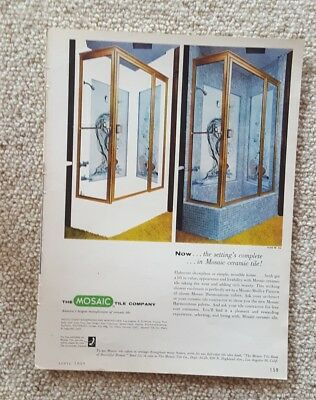 1959 Print Ad-Mosaic Medley Pattern-Mosaic Harmonite Colors-Mosaic Tile Co