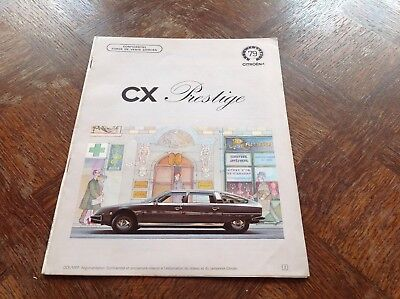 Citroen CX PRESTIGE Catalogue interne Force de vente 1979