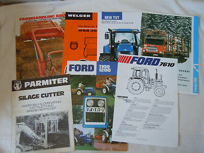 @Vintage Quantity of Agricutural Brochures/Spec Sheets-Ford Tractor@