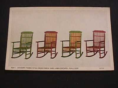 Hickory Frame Stick Reed Porch And Lawn Rocker Jefferson City, Mo. Trade Card