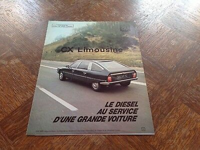Citroen CX LIMOUSINE Catalogue interne Force de vente 1980
