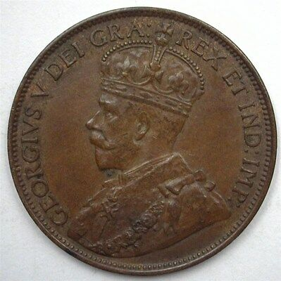 Canada 1912 Large Cent  Near Choice Uncirculated Br