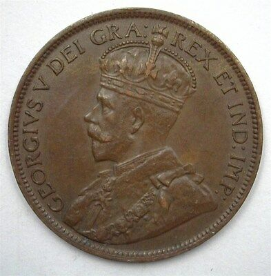 Canada 1918 Large Cent  Choice Uncirculated Br