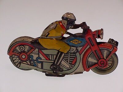 """GSMOTO PENNY TOY """"CIVIL RIDER"""" PINO ITALY,10cm, FRICTION, LEICHT BESPIELT/USED"""