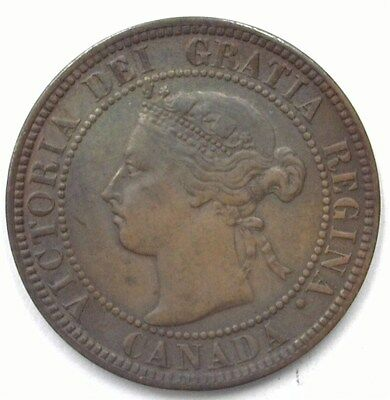 Canada 1892 Large Cent  Uncirculated Brown