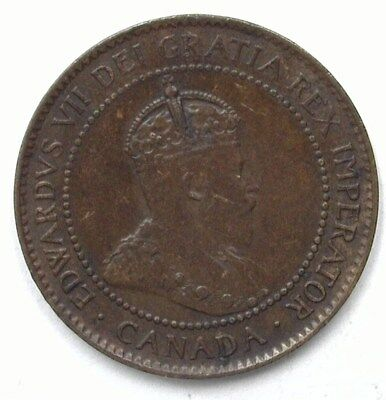 Canada 1904 Large Cent  Uncirculated Brown
