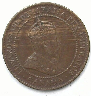 Canada 1906 Large Cent  Uncirculated Brown